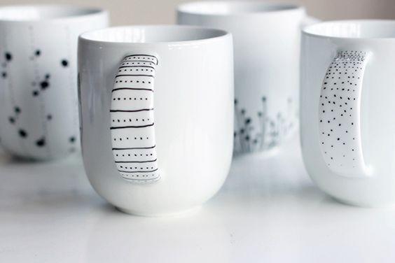DIY - Mal på porcelæn www.frkgreve.dk mugs