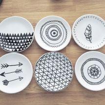 DIY - Mal på porcelæn www.frkgreve.dk plates