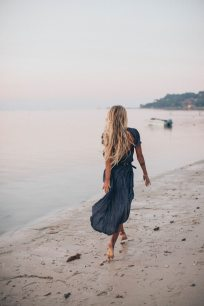 Goodbye Summer - girl walking on beach